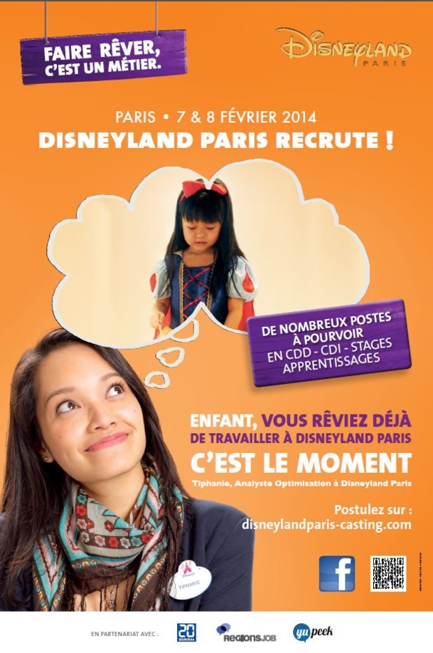 Disneyland Paris : 8 000 postes à pourvoir en 2014