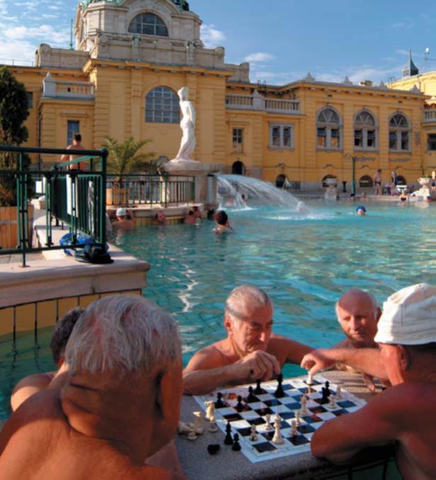 Joueurs d'échecs aux Bains de Szchenyi - DR