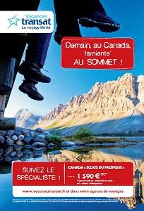 Les visuels de la campagne de Vacances Transat seront affichés jusqu'au 18 février 2014 - DR