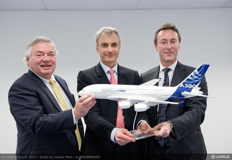 Le contrat final a été signé à Singapour entre Amedeo et Airbus © Airbus S.A.S 2014 Photo by A. Doumenjou
