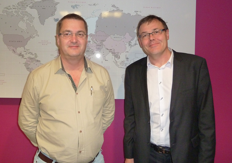 Thierry Houalard, son Président  accompagné de Frédéric Marchand - DR