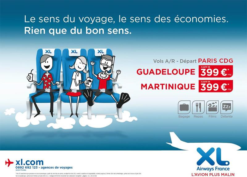 XL Airways change de ton pour sa nouvelle campagne de promo !
