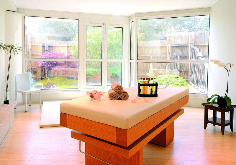 Cabine réservée aux massages ayurveda - Photo L. Galaska