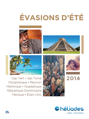 La brochure Evasion d'Été 2014 d'Héliades est disponible depuis le 17 février 2014 - DR