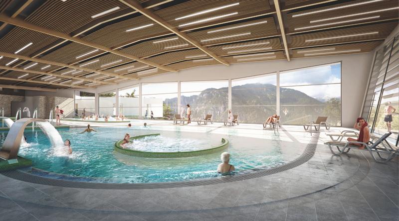 Complexe thermal Berthemont les Bains dans la vallée de la Vésubie - DR