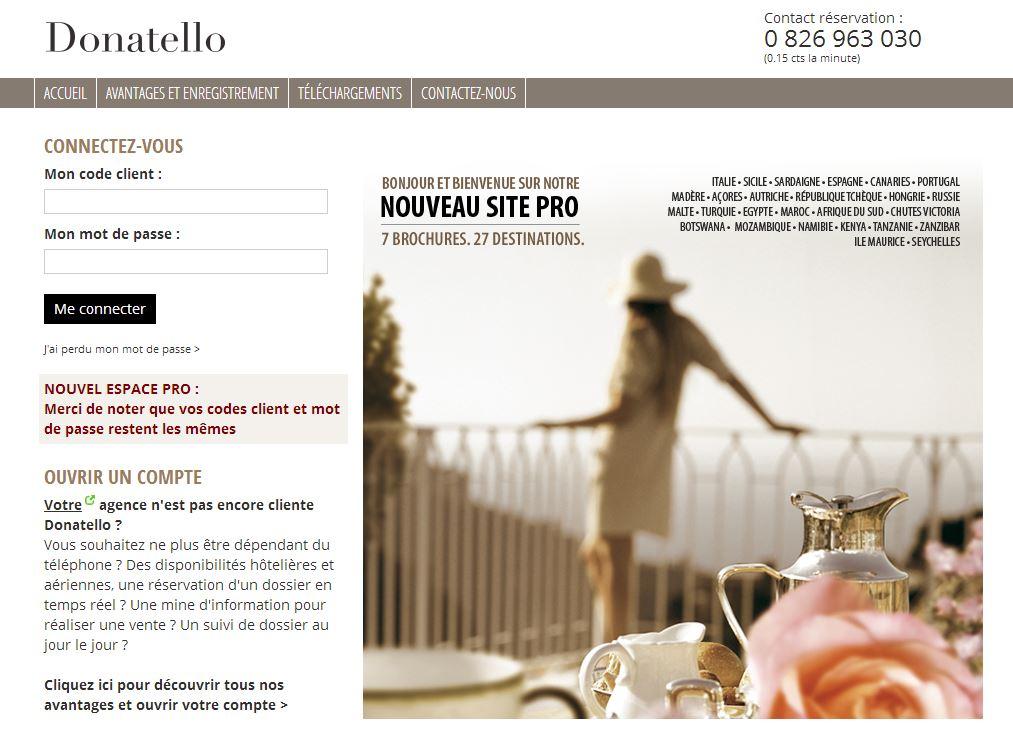 Le nouvel espace pro de Donatello propose une multitude d'innovations au service des agents de voyages.