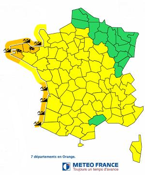 Des vagues sont à craindre sur le littoral Atlantique vendredi 28 février 2014 - DR : Météo France