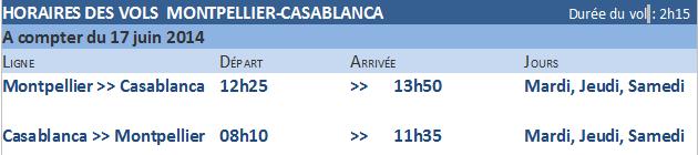 Royal Air Maroc : 3 vols hebdos Montpellier-Casablanca dès le 17 juin 2014