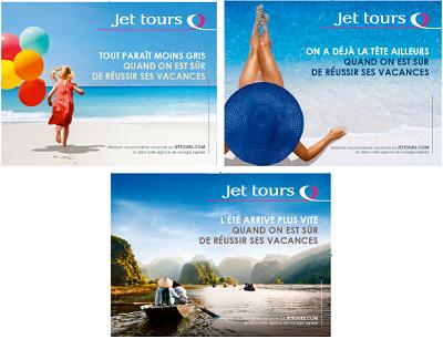 Sur ses 3 nouveaux visuels, Jet tours met en scène l'impatience des Français à partir en vacances - DR