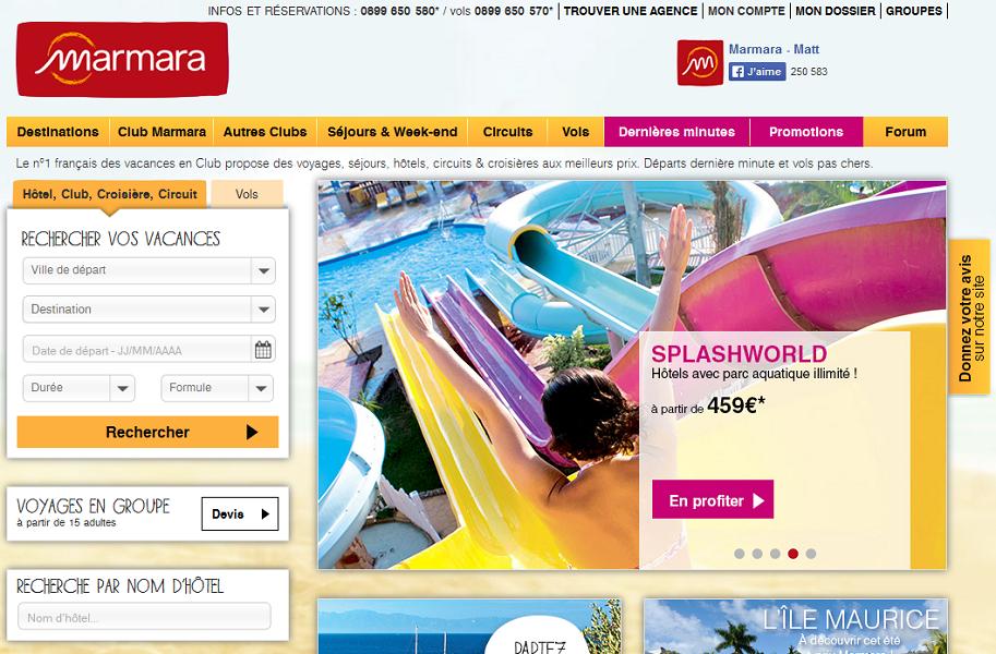 Marmara et Passion des Îles mettent leur production à disposition des agences de voyages Selectour Afat - Capture d'écran