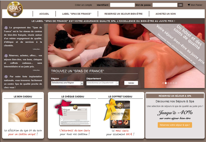 Le site de Spas de France - DR