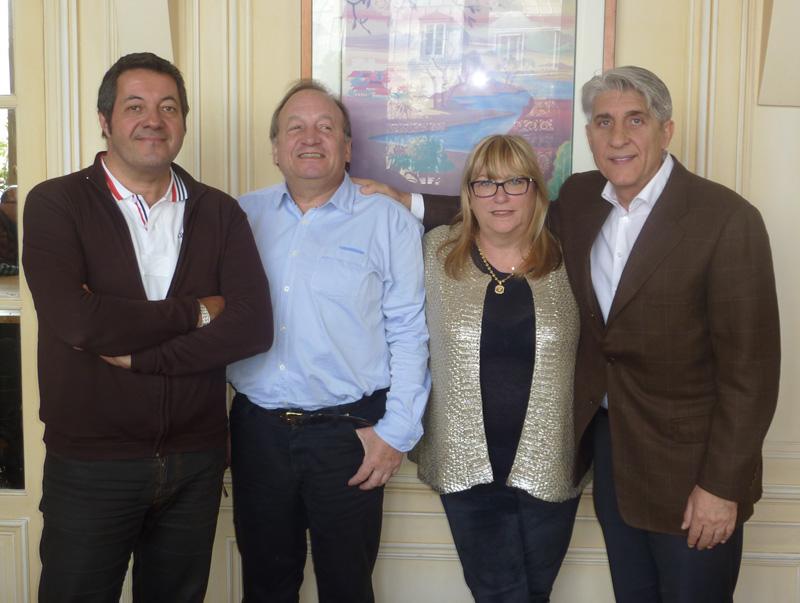 Jean-Luc Dufrenne, Georges Cid, Michèle Laget Herbaut, et Lucien Salemi - DR