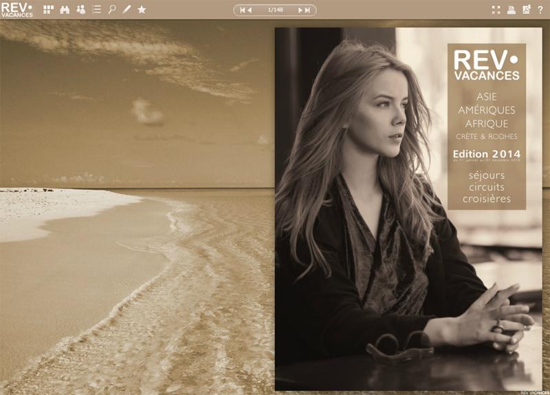 La brochure 2014 de Rev Vacances. Le nouveau catalogue avec une production enrichie sera présenté à l'IFTM Top Resa - DR