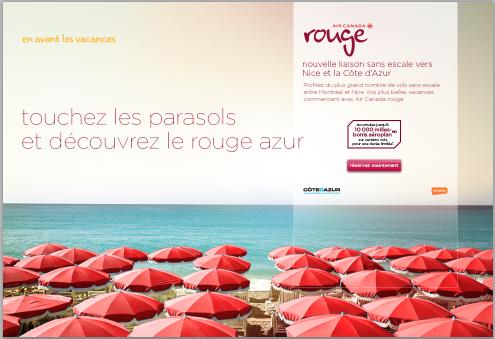 Publicité d'Air Canda Rouge - DR