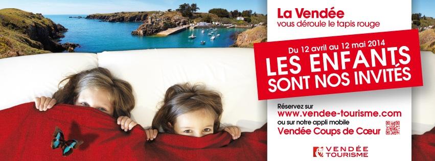 """Visuel de la campagne """"Les enfants sont nos invités"""" de Vendée Tourisme - DR"""