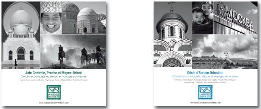 Les 2 nouveaux catalogue de voyages de la Maison des Orientalistes - DR