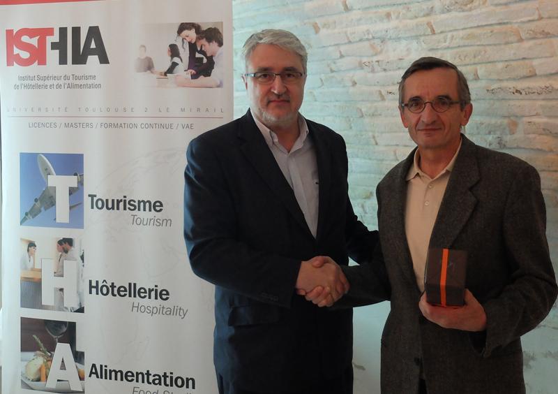 Jean-Pierre Poulain, directeur de l'ISTHIA et Michel Bras - DR