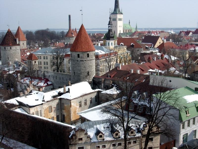 Tallinn, classée au patrimoine mondial de l'Unesco, est en effet l'une des villes médiévales les mieux préservées d'Europe (Cliquer pour agrandir)