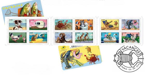 Les timbres sur le thème des vacances sera distribué à partir du 5 mai 2014 - DR
