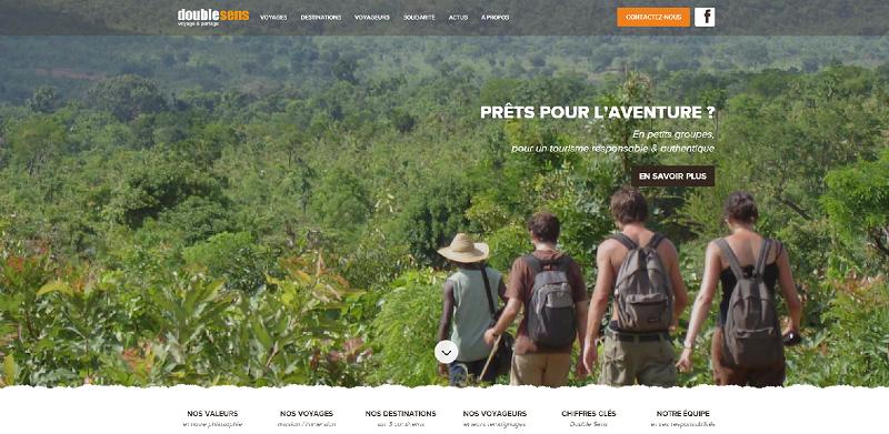 Le nouveau site Internet de Double Sens affiche un nouveau design - Capture d'écran