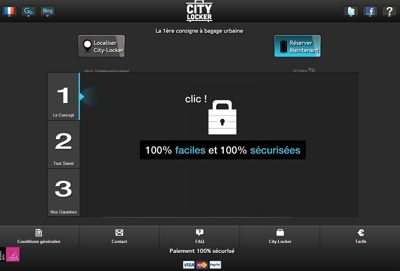 City Locker, une jeune entreprise, propose un service de consignes à bagages dans le centre de Paris.