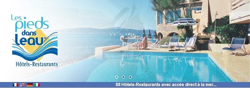 Les Pieds Dans l'Eau est un site similaire concentré sur les hôtels au bord de l'eau.