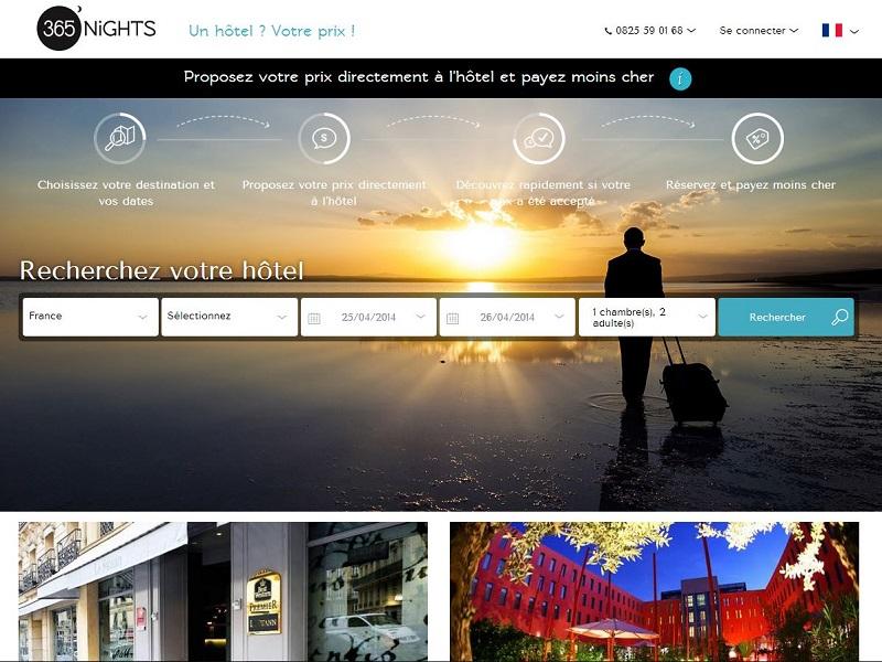 """Barteo, le site internet innovant de négociation d'hôtels, devient """"365nights""""."""