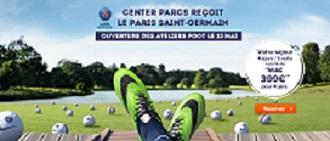 Center Parcs en partenariat avec le PSG. DR