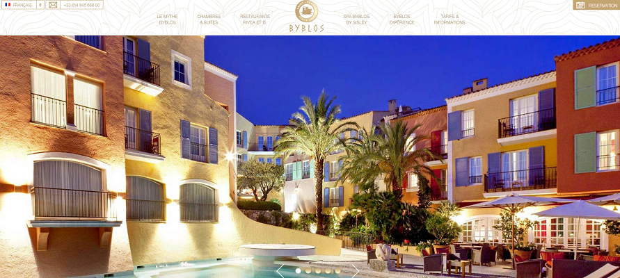 Le nouveau site Internet du palace intègre des images en plein écran - Capture d'écran