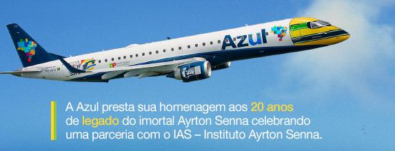 Brésil : Azul décore un avion aux couleurs du casque d'Ayrton Senna