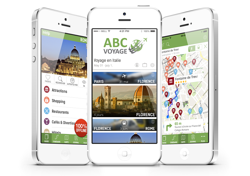 L'application mobile mTrip s'adapte aussi à la production des tour-opérateurs.