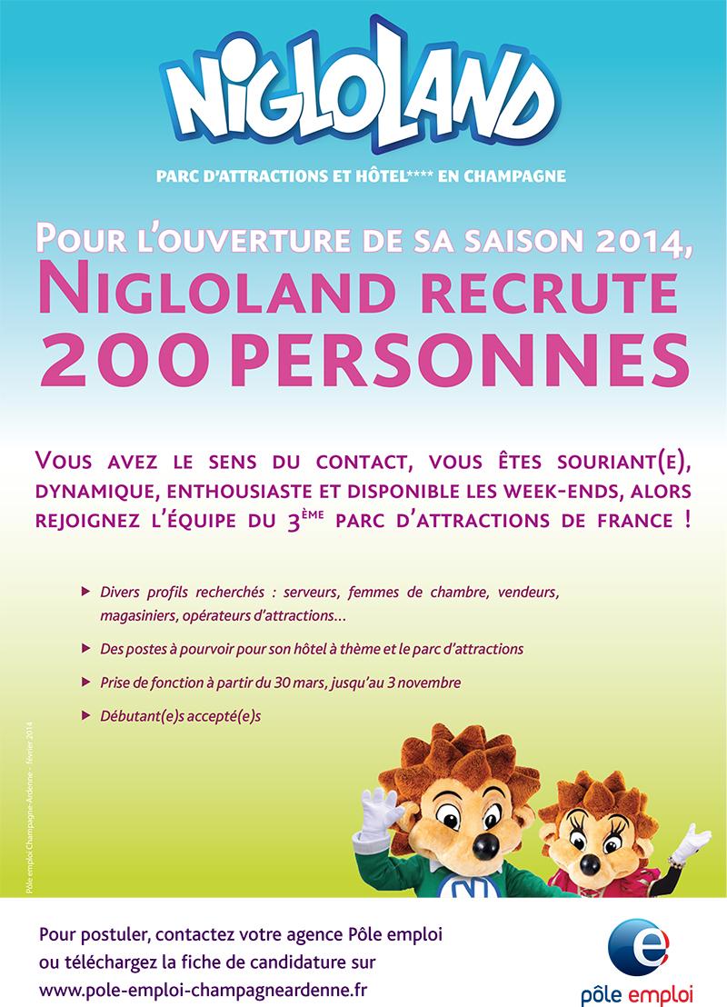 Nigloland : 200 postes à pourvoir pour la saison 2014