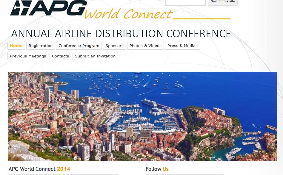 Le forum World Connect d'APG aura lieu à Monaco. DR