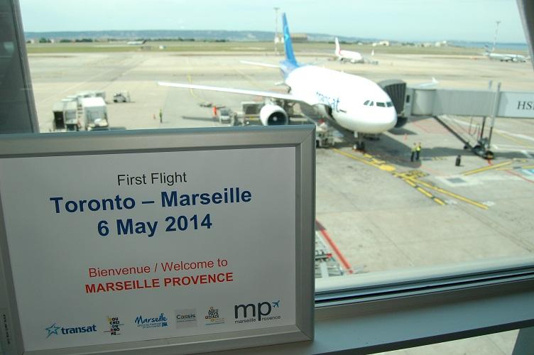 Air Transat a assuré son premier vol entre Toronto et Marseille mardi 6 mai 2014 - Photo DR