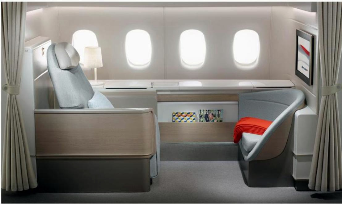 Air France's new La Première : More than just a seat, a private suite...
