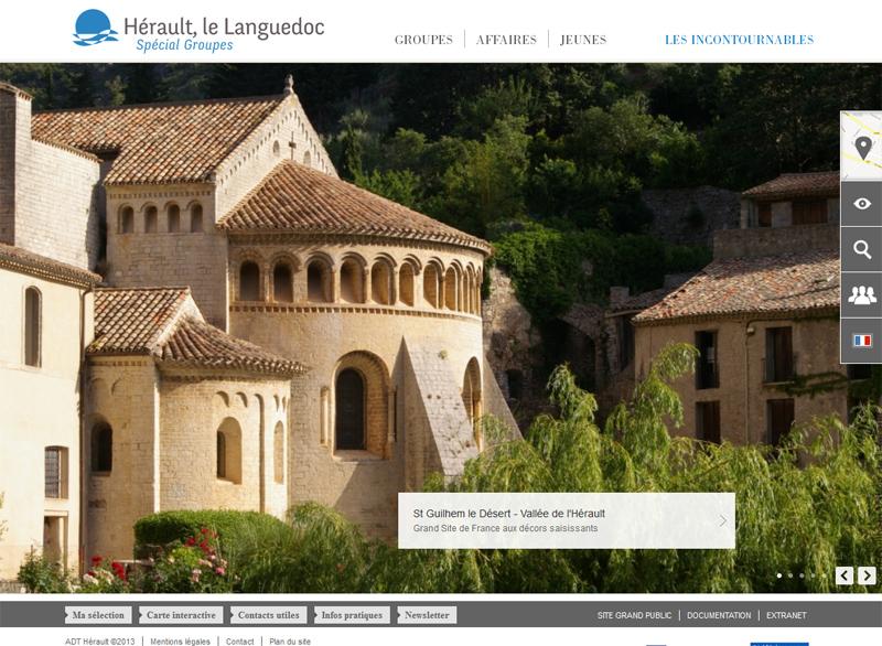Le nouveau site web dédié aux groupe de Hérault Tourisme - DR