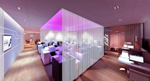 Le lounge comprendra plusieurs espaces de travail et de détente et pourra accueillir jusqu'à 122 personnes - DR : Finnair