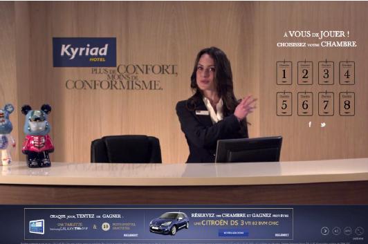 La page d'accueil de la plateforme lincroyablehotelkyriad.com - Capture d'écran