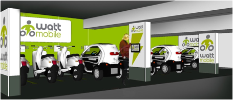 Les stations de WattMobile en gares seront 100 % automatisées - DR