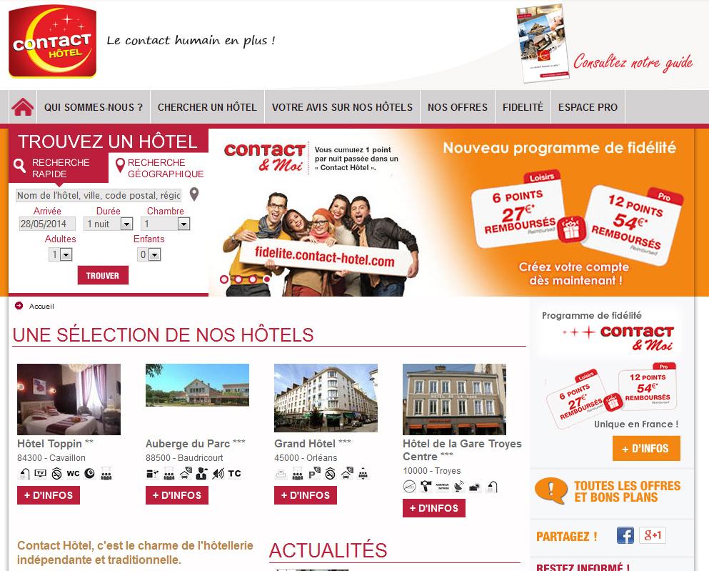 Contact Hôtel lance une nouvelle application mobile
