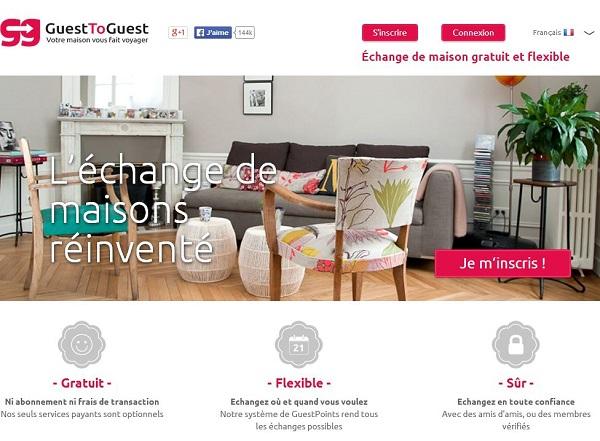 GuestToGuest est un site internet d'échange de maisons, qui permet de partir en vacances gratuitement.