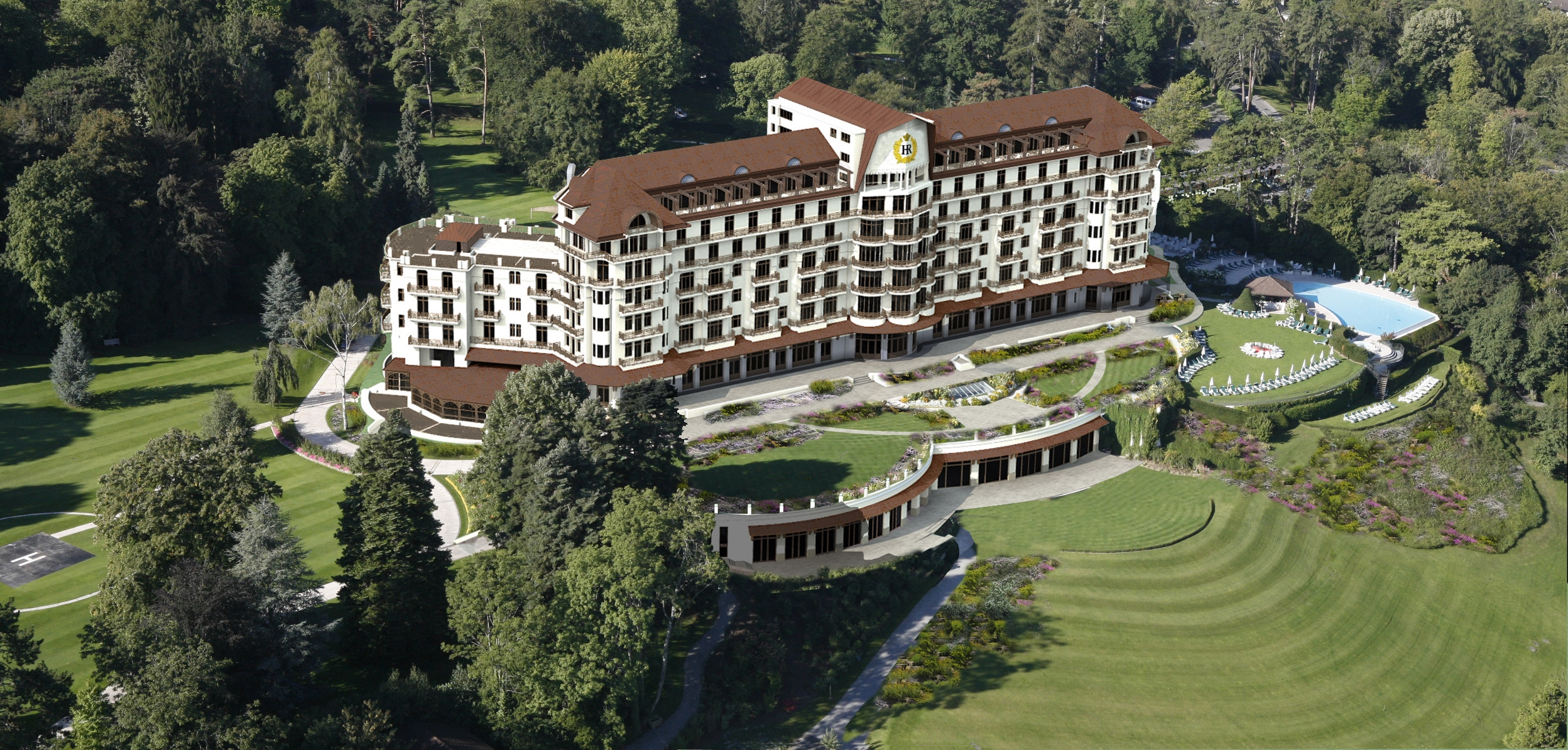 L h tel royal d evian rouvrira le 1er juillet 2014 apr s for Hotels evian