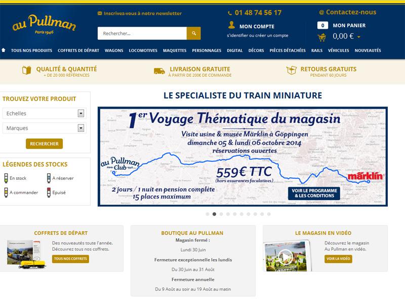 Le site web du magasin Au Pullman fait la promotion du 1er voyage thématique lancée par la boutique - DR