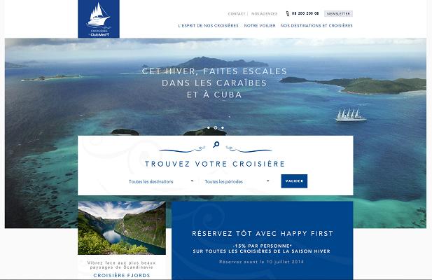 Actuellement disponible en français, le site du Club Med 2 lancera une version en anglais prochainement - Capture d'écran