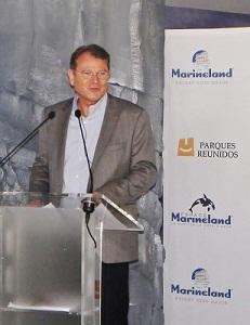 Yann Caillère est le PDG de Parques Reunidos, groupe propriétaire de Marineland à Antibes - Photo M.B.