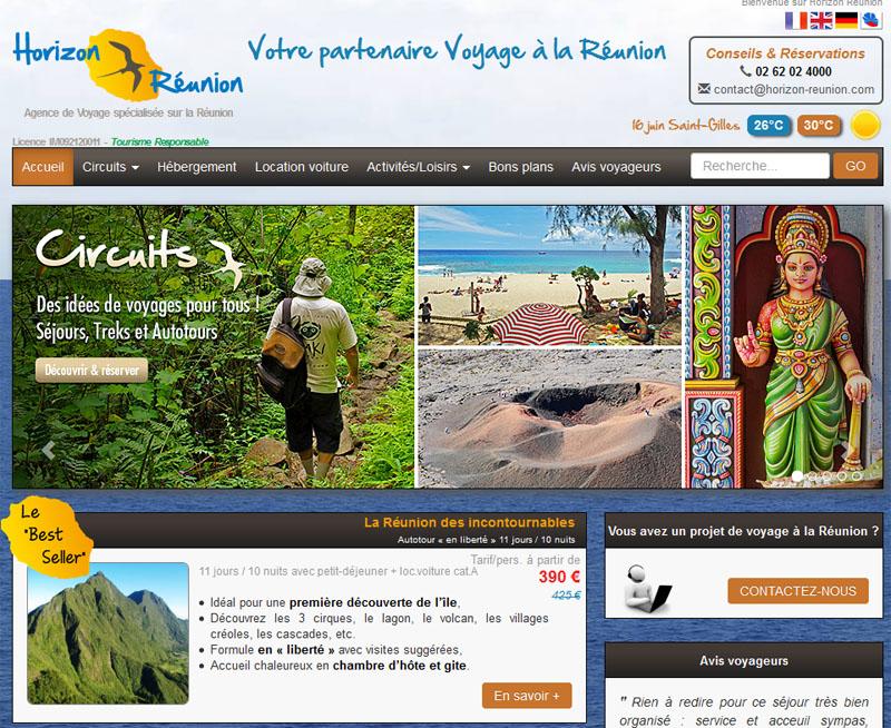 """Horizon réunion propose 3 circuits sur l'île dont """"Réunion des incontournables"""". DR"""