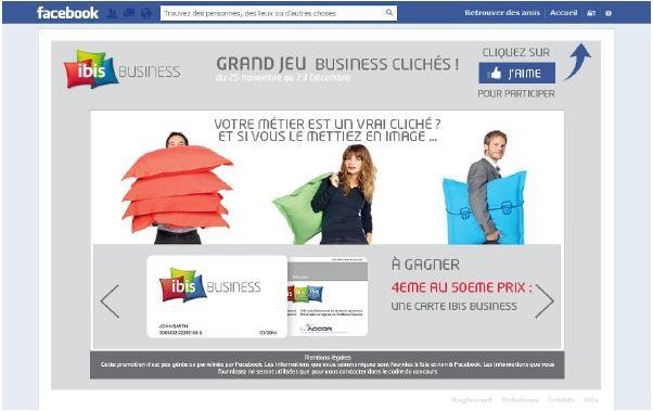 Ibis utilise la gamification sur Facebook pour animer sa communauté.