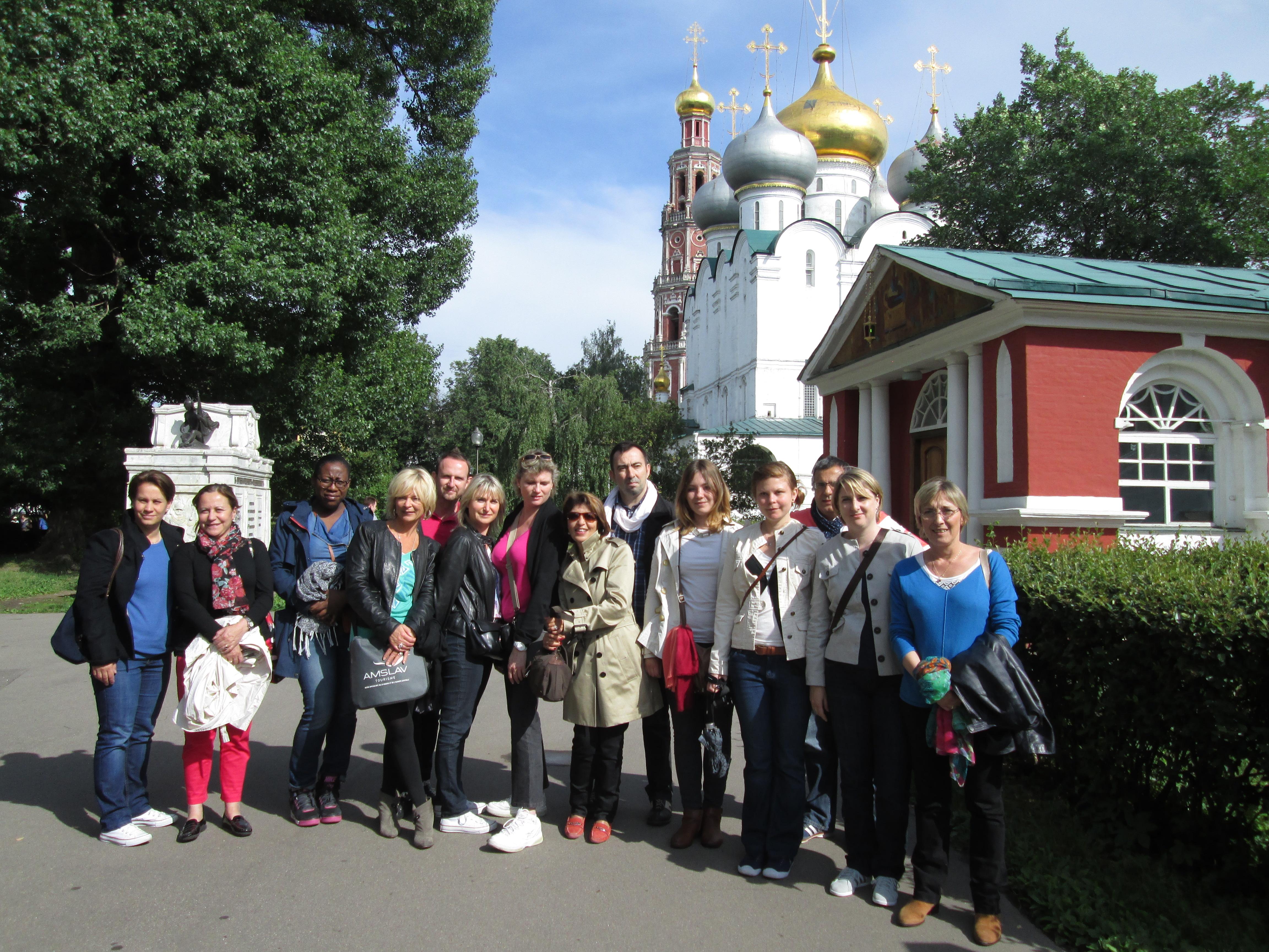 Les participants de l'eductour AMSLAV au Couvent Novodievitchi - DR : M.S.