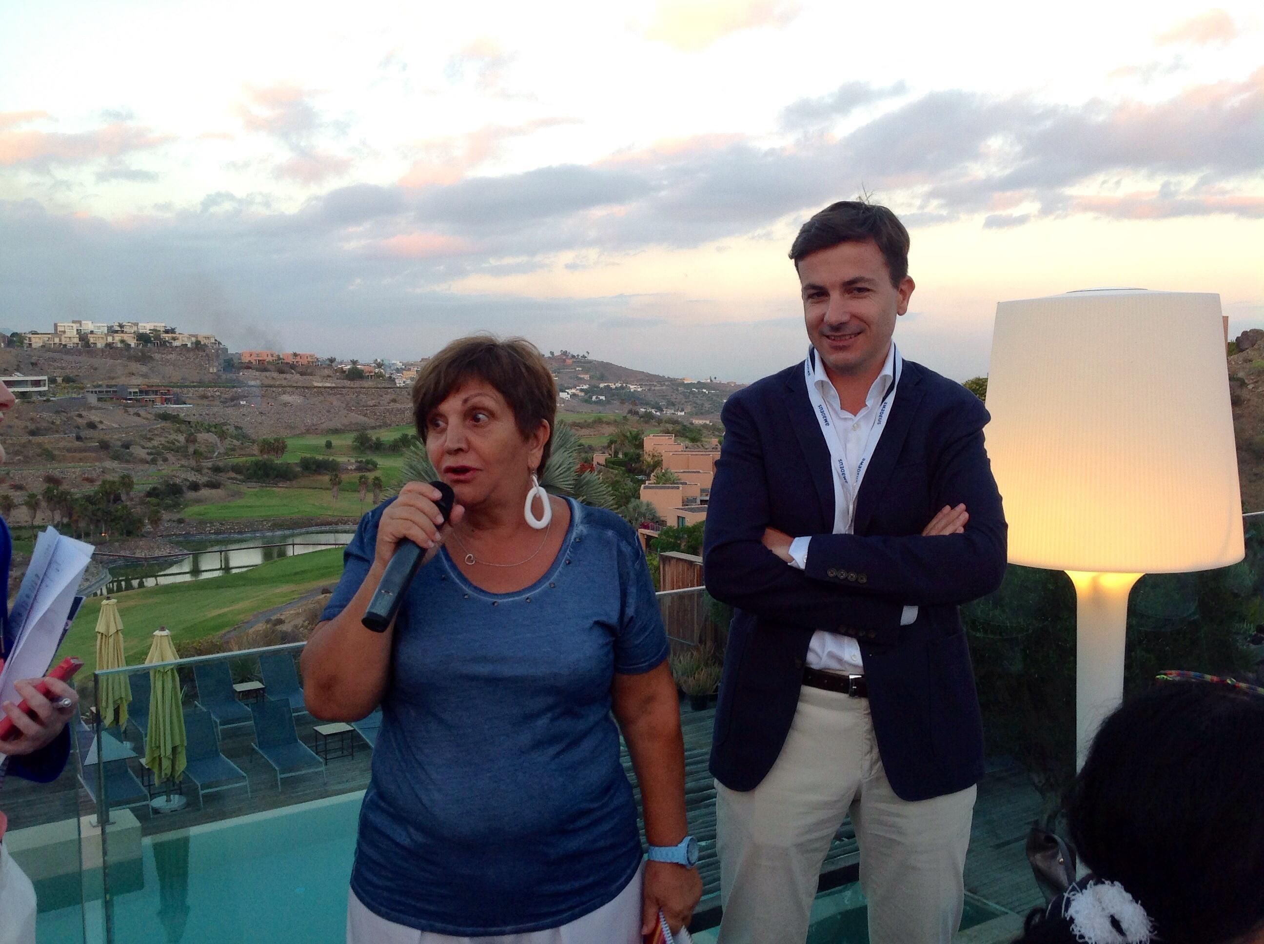 Adriana Minchella avec Frédéric Saunier, directeur commercial d'Amadeus