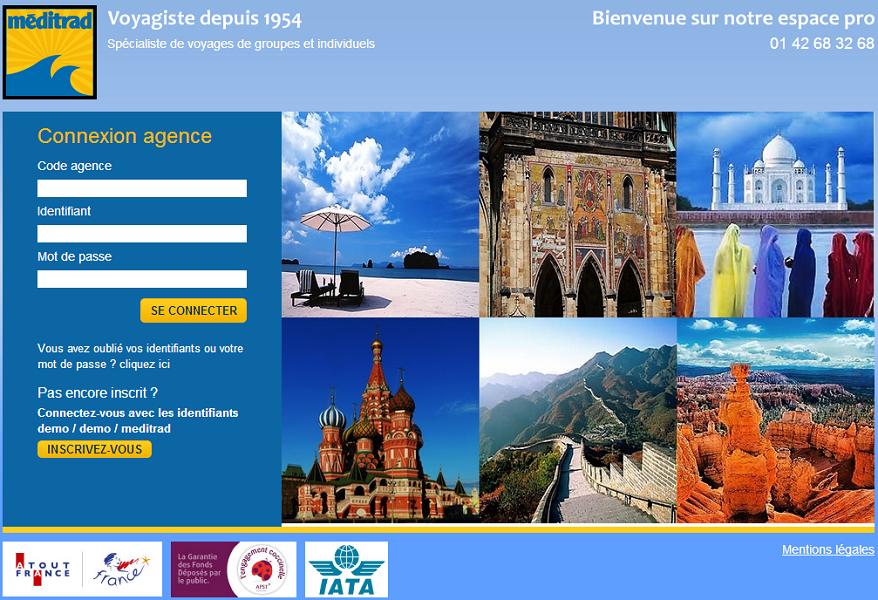 Le site de réservation de Méditrad est accessible depuis le 22 mai 2014 - Capture d'écran